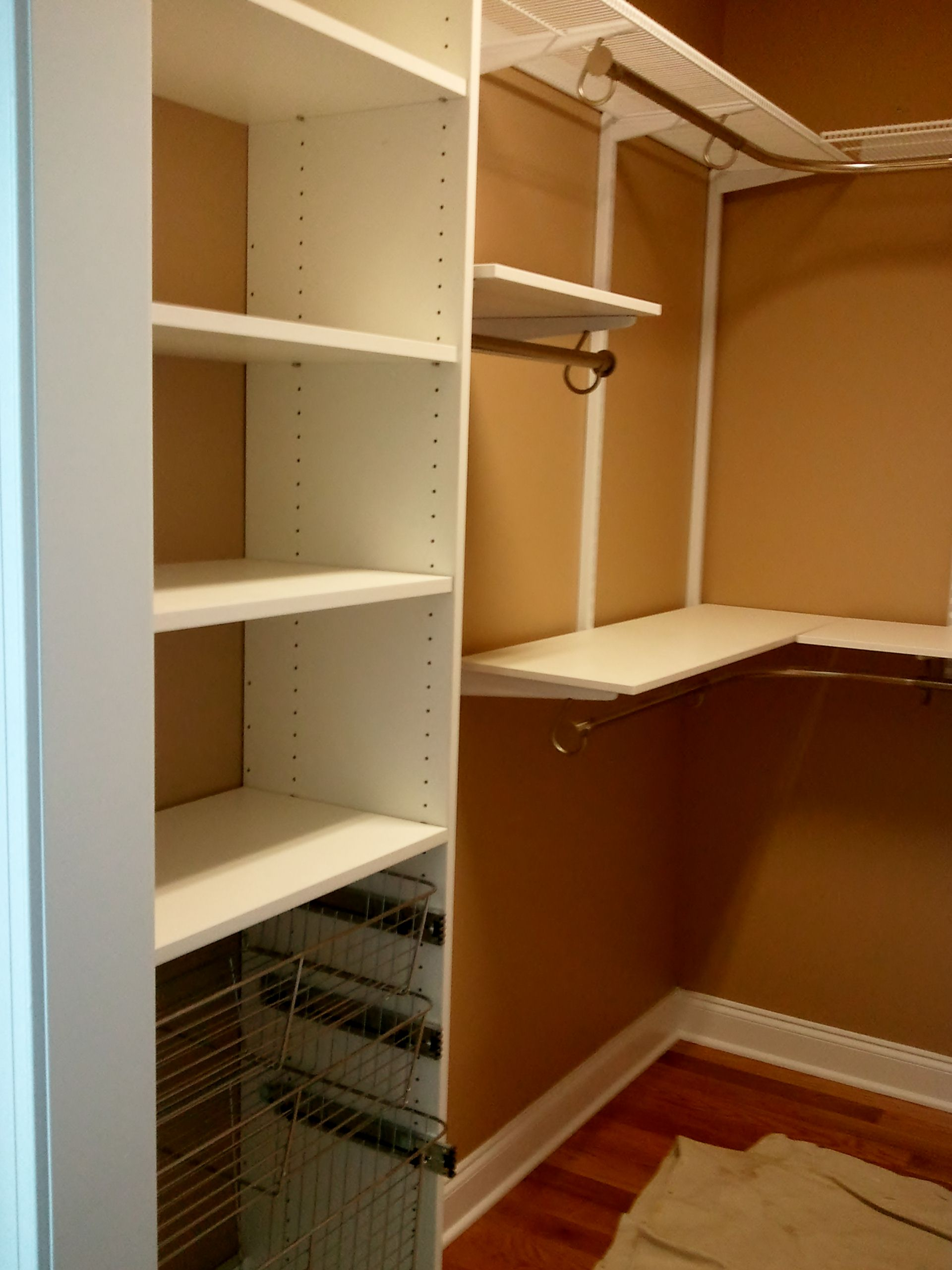 White Custom Melamine Closet Va Installations